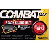 Combat Max 12 Month Roach Killing Bait, Small Roach Bait Station, 18 Count