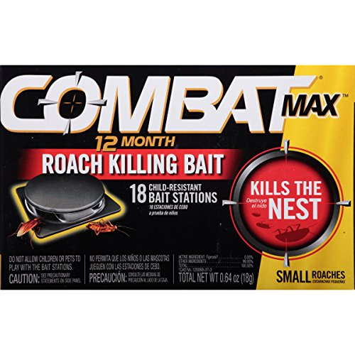 Combat 12 Month Roach Killing Bait, Small Roach Bait Station, 0.64 Ounce, 18 Count