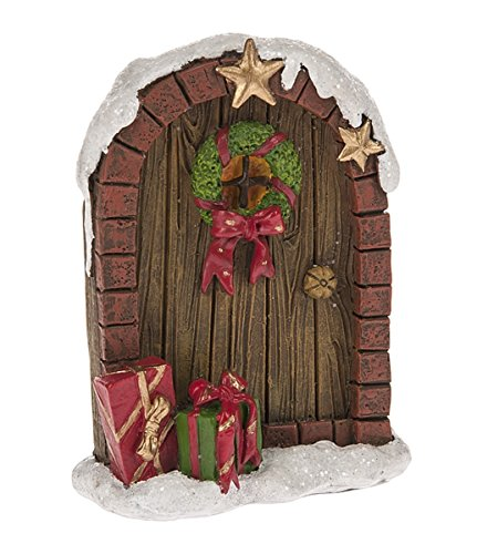 "Ganz 3.5"" x 2.5"" Resin Winter Fairy Garden Door Figurine"