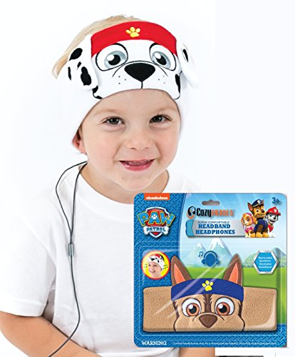 Paw Patrol Kids Headphones by CozyPhones - Volume Limited with Ultra-Thin Speakers & Comfortable Soft Fleece Headband - Perfect Children's Earphones for School, Home and Travel – MARSHALL