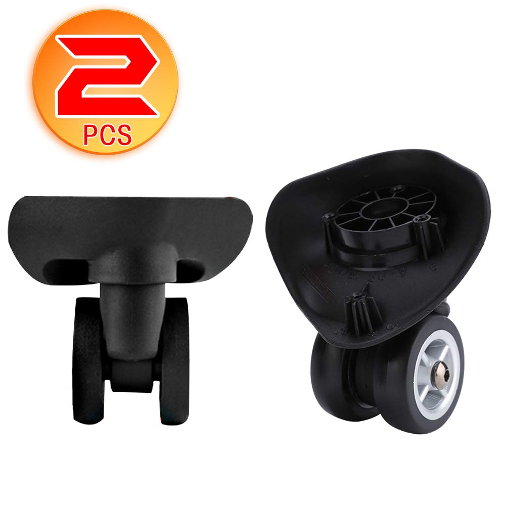 Dilwe 1 Pair Universal Suitcase Portable Replacement Wheels Wheels Travel Suitcase Accessory (W042 L)
