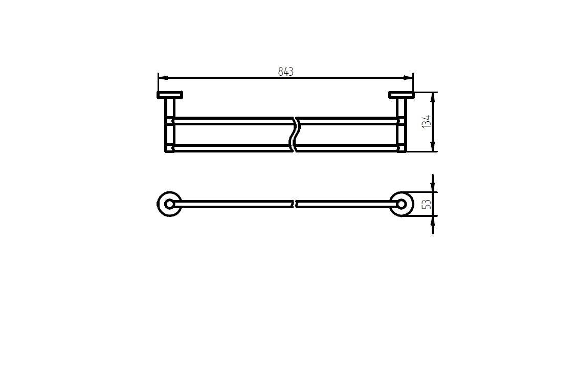 Haceka 25290240 Kosmos - Toallero doble de pared (80 cm), cromado: Amazon.es: Hogar