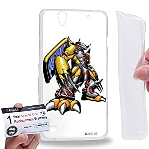 Case88 [Sony Xperia C4 / C4 Dual] Gel TPU Carcasa/Funda & Tarjeta de garantía - Digimon Adventure Augmon Greymon MetalGreymon WarGreymon 0938
