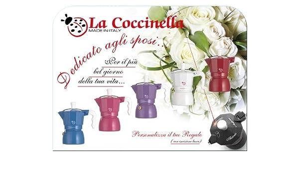 Top Moka Cafetera, Diseño de Mariquita, Color Blanco: Amazon.es: Hogar