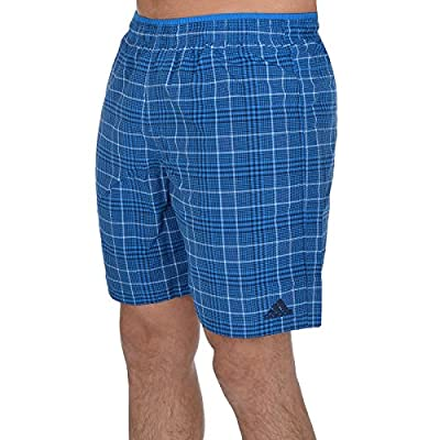 Hot adidas Performance Mens Pool Beach Check Swimming Swim Shorts - Blue for cheap