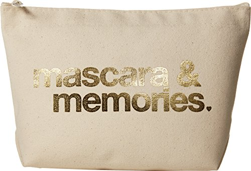 Dogeared Women's Mascara & Memories Gold Foil Lil Zip Gold Foil/Canvas One Size - Lil Zip Bag