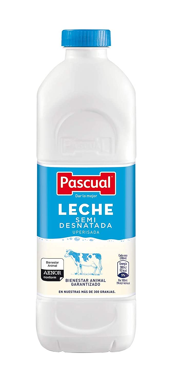 Leche Pascual - Clásica Leche Semidesnatada - Botella 1,2 L ...