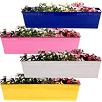 TustBasket Rectangular Railing Planter (23 Inch) - Set of 4