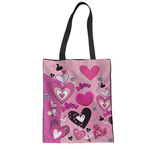 Showudesigns CC6129Z22, Borsa a mano donna Rosa Pink Taglia unica heart-shaped 1