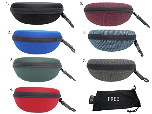 #1 Sale Sunglasses Semi Hard Case for Medium and Large Size Frames + Free Pouch (2. - For 2 1 Eyeglasses Sale