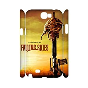 New Fashion 3D Samsung Galaxy Note 2 N7100 Case, Falling Skies quote Custom Phone Case