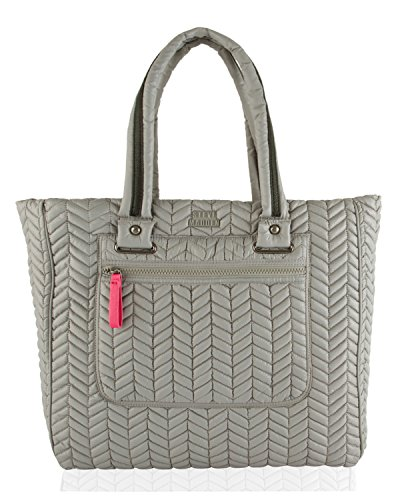 Steve Madden Bsportie Nylon Chevron Quilted Tote - Grey (Quilted Shopper Tote compare prices)