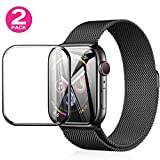 Screen Protector Compatible with Apple Watch (40mm for Series 4), HD Screen Protector Anti-Bubble Scratch-Resistant Guard Cover 3D Protective Soft Film Screen Protector 40mm PET Waterproof