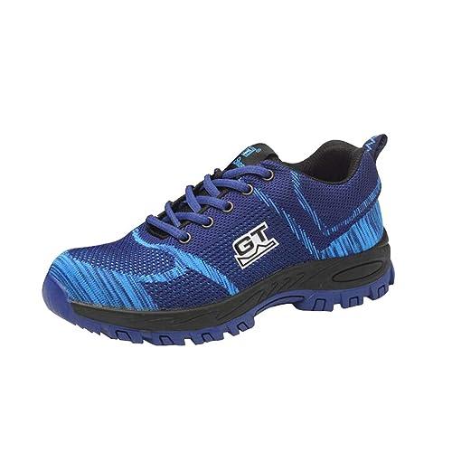 hibote Mujer Hombre Zapatillas de Seguridad Deportivos con Puntera de Acero Zapatos de Trabajo Entrenador Unisex Zapatillas: Amazon.es: Zapatos y ...