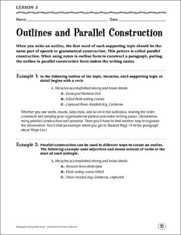 how to write a paragraph outline