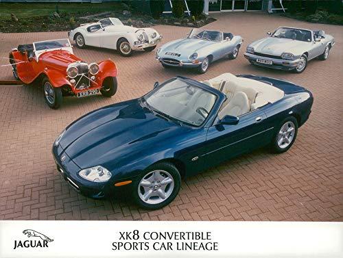 Vintage photo of Motor car jaguars,XK8 convertible sports car lineage.