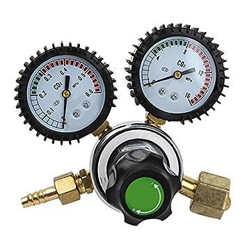 Vinmax Regulador de dióxido de carbono de doble calibre Co2 regulador no calienta la mesa de la válvula reductora de presión: Amazon.es: Bricolaje y ...