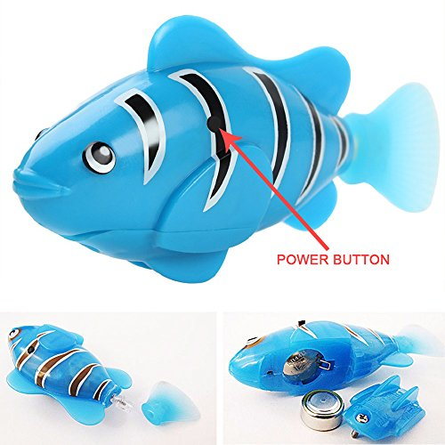 4 Pcs Electric Bionic Battery Powered Robot Fish Set Fish Tank