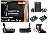 Vivitar Deluxe Power Grip for Canon EOS 5D MARK II (VIV-PG-5DM11) + 2 x Vivitar Lithium Ion Battery (LP-E6 / LP-E6N) + Vivitar Rapid Battery Charger (VIV-SC-E6) + Camera Cleaning Kit