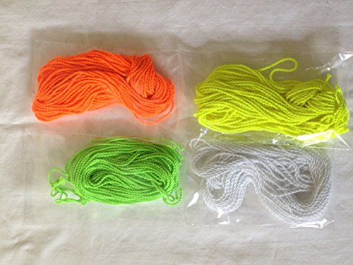 40 Yoyo String (10 Each - Florescent Lime Green, Yellow, Orange and White)