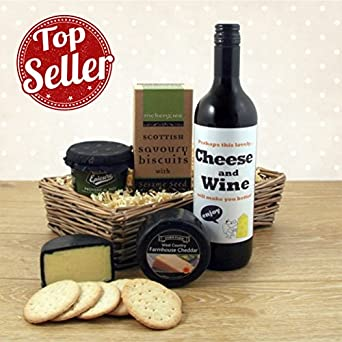 Cheese Wine And Pate Gift Basket