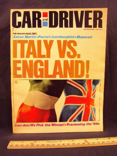 1968 68 September CAR AND DRIVER Magazine (Features: Road Test on Dodge Dart GTSm, Volkswagen 1500 automatic, + Ford twin cam Escort) -
