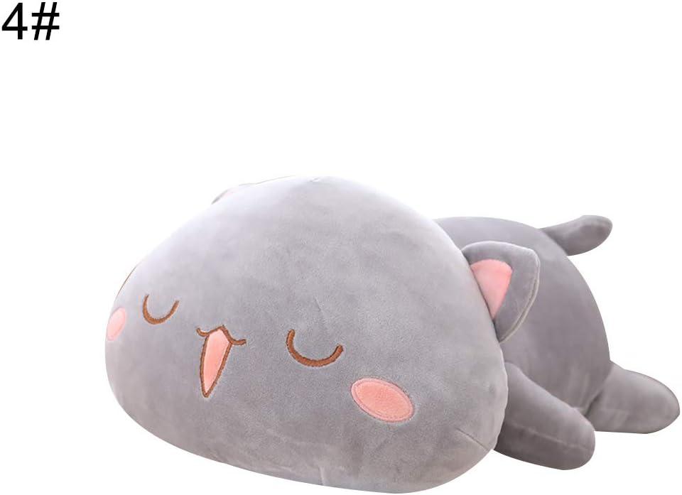Kuizhiren1 suave animal muñeca de peluche de peluche, Kawaii gato tumbado muñeca de peluche almohada de espalda cojín niños juguete regalo – 4# 30 cm