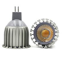 LEDIARY MR16 GU5.3 LED Spotlight 100V-240V 6W Aluminum High Heat Radiation LED Bulb,Cup Shape Bulb,3000K Warm White/6000k Cool White