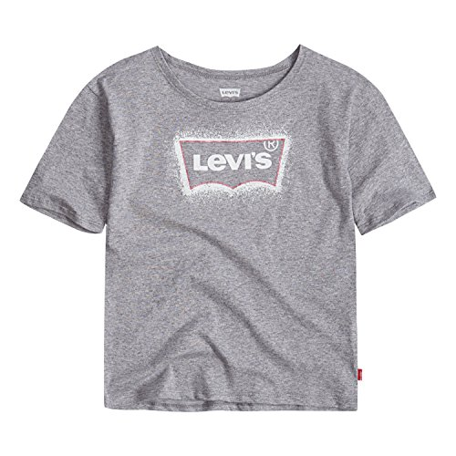 Levi's Girls' Batwing T-Shirt, Marled Grey, S by Levi's