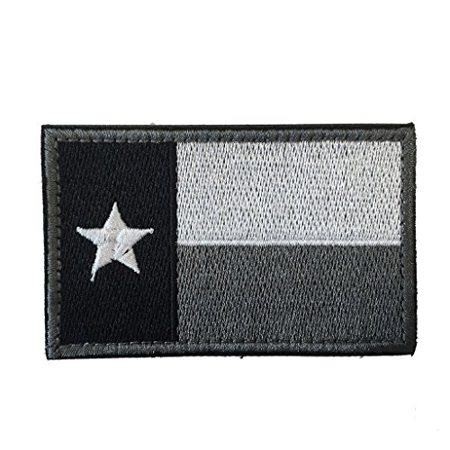 SpaceAuto Texas State Flag Tactical Morale Patch Gray White