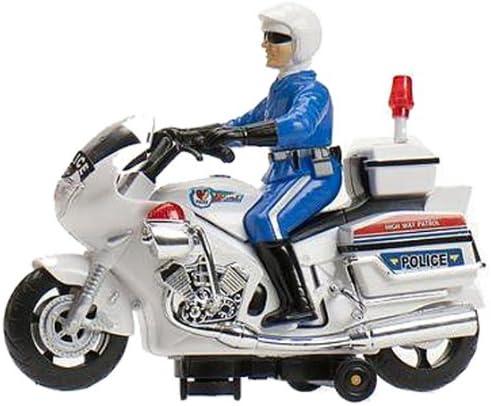 Cosas 651011 - Moto Policia Salvaobst. Luz Y Sirena: Amazon.es: Juguetes y juegos