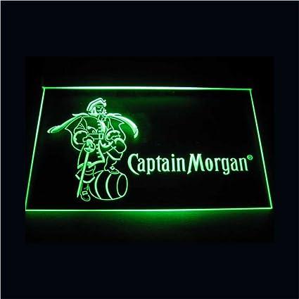 Amazon.com: WorldLEDHouse - Cartel LED de Capitán Morgan ...