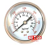 Best in USA 2.5'' Air Pressure Gauge Center Back Mount 1/4'' NPT 2-1/2'' Dial - 0 to 300 PSI