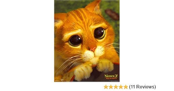 Puss In Boots Cute Big Sad Eyes 24x36 Poster Kitty Cat Shrek 2 Family Kids Movie