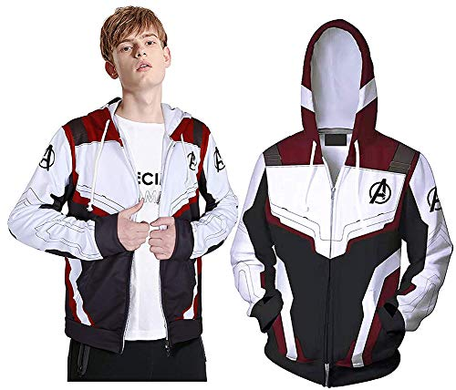 Riekinc Superhero Hoodie Adult Sweatshirt Jacket Halloween Cosplay Costume Adult Kids Size -