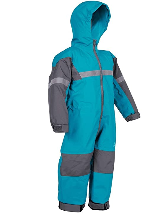 OAKI Rain Suit Kids - Toddler Snowsuit - One Piece Rain Jacket/Pant for Girls & Boys, Celestial Blue, 12 Month best baby boy snowsuits