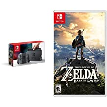 Nintendo Switch Console - Grey Joy-Con Edition & The Legend of Zelda: Breath of the Wild - Switch Edition