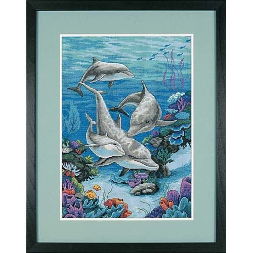 Dimensions Needlecrafts Counted Cross Stitch, The Dolphins Domain ()