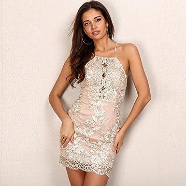 Carolina Dress Vestidos Satinados De Fiesta Sexys Cortos Ropa De Moda Para Mujer y Noche Elegante Casuales VE0051 at Amazon Womens Clothing store: