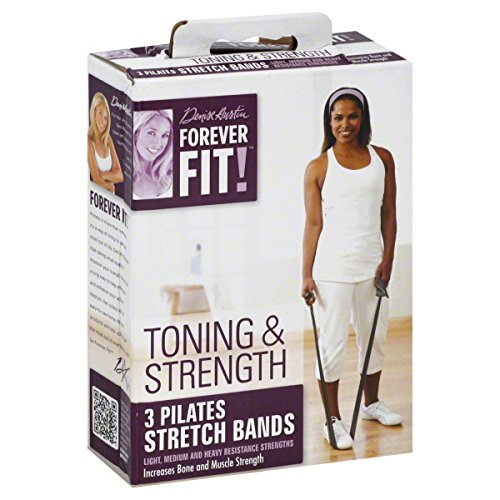 Forever Fit by Denise Austin, Pilates Stretch Bands, Toning & Strength 3 bands