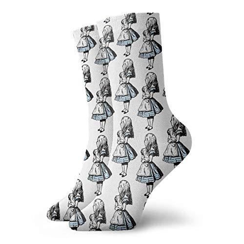 Casual Crew Socks Small Alice In Wonderland Ankle Socks Short Dress Compression Socks For Women Men -
