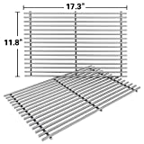SHINESTAR 7639 Stainless Steel Grates Replacement for Weber Spirit 300 Grill Grates, Solid Cooking Grates Replace for Spirit 310 E310, Genesis Silver B C, Gold B C (Set of 2, 17.3 x 11.8) (SS-KW639B)