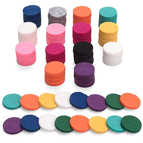 100Pcs Replacement Felt Pads, Essential Oil Diffuser Locket Necklace 0.87 inch ()