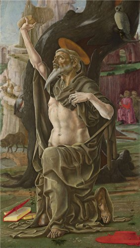 canvas-prints-of-oil-painting-saint-jerome-about-1470-cosimo-tura-18-x-32-inch-46-x-81-cm-high-quali