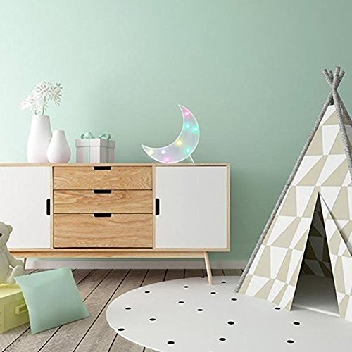 Kids Room Night Lights Moon Shape Signs Light Night Light Wall Decoration for Living Room,Bedroom,Home, Christmas (Moon) by SevenJuly (Image #2)