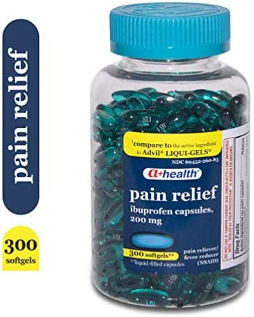 A+ Health Ibuprofen 200 Mg Softgels, Pain Reliever/Fever Reducer (NSAID), Made in USA, 300 Count