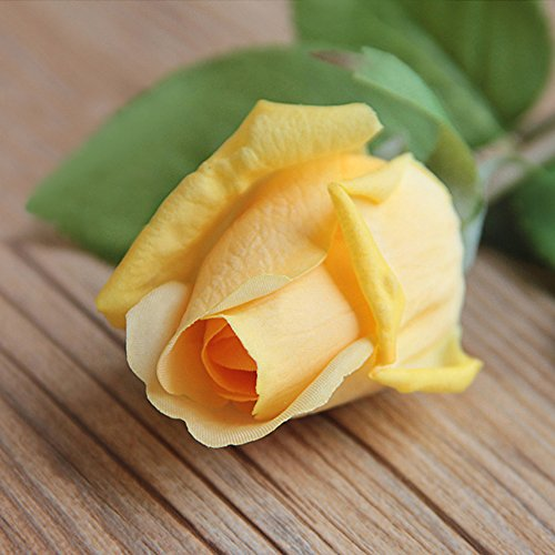 12pcs Latex Moisturizing Roses of Real Touch Natural Artificial Flowers Roses Realistic Color for Wedding/Home Decor or As a Gift to Wife/Mother/Friend(19 Inch-Champagne)