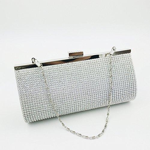 Pour Gzhgf Argent Femme Pochette Silver atanq5rw