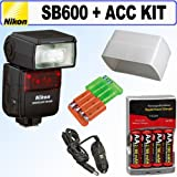 Nikon SB-600 Speedlight Flash + Accessory Kit