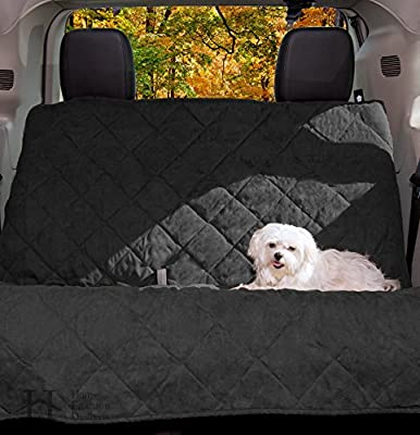 Back Seat Protector and Pet Seat Cover with Adjustable Straps. Durable Seat Mat Fits Most Cars, SUVs, Trucks, and Vans. By Home Fashion Designs Brand.